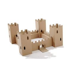 Cardboardesign The Fort eco-friendly cardboard play castle Cardboard Castle, Cardboard Playhouse, Cardboard Crafts, Cardboard Tubes, Cardboard Rocket, Forts En Carton, Model Castle, Castle Crafts, Castle Project