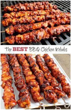 The Best BBQ Chicken Kebabs This isn't your ordinary barbecue chicken. In fact, these BBQ Chicken Kebabs are the best barbecue chicken I've tasted. The post The Best BBQ Chicken Kebabs appeared first on Womans Dreams. Summer Recipes, Great Recipes, Recipes Dinner, Summer Grilling Recipes, Barbecue Recipes, Summer Meal Ideas, Dinner Dishes, Best Bbq Recipes, Recipe Ideas