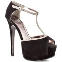 skinny t-strap with 6 inch heel