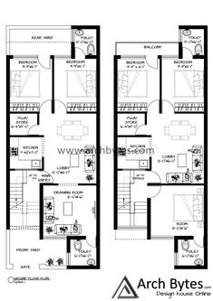 Floor Design, House Design, Construction Finance, 200 Yards, Ground Floor Plan, Best House Plans, Good House, Square Feet, 21st