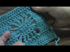 This video demonstrates one method of how to make the spider stitch. I used it in my Gemstone Spider Afghan (available at Ravelry http://www.ravelry.com/patterns/library/gemstone-spider-afghan ).     I begin work on a row of double 19 double crochets. (Chain 21, work into 4th chain from hook, then dc across for first row)    The video moves along ve...