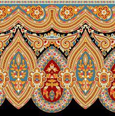 Border Pattern, Pattern Art, Pattern Design, Flower Png Images, Boarder Designs, Paisley Art, Design Seeds, Album Design, Textile Patterns