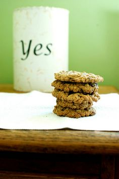 Amazing choc chip oatmeal cookie recipe, used cloud 9 flour and added walnuts-erin