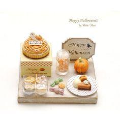 ハロウィン🎃 #miniature #miniaturesweets miniaturefood #dollhouse #halloween #halloweencookies #ミニチュア #ミニチュアスイーツ #ミニチュアフード #ハロウィン #ミニチュアハロウィン #ドールハウス