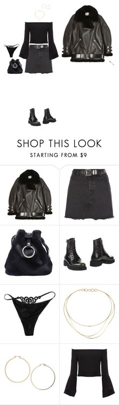 """""""119"""" by aeosa ❤ liked on Polyvore featuring Acne Studios, New Look, Prada Sport, The Little Bra Company, Tiffany & Co., Topshop and Bardot"""