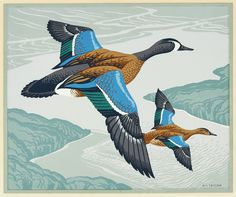 Alfred Joseph Casson (1898-1992) - Blue-Winged Teal
