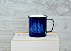 Finel/Arabia Tall Ship Enamel Mug by SimplyLoveNordic on Etsy, €45.00