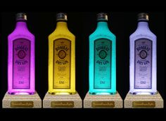 Bombay London Dry Gin Multicolour LED by DiamondLiquorLights