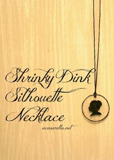 Doing with a dachshund stamp - 'A Casarella: Shrinky Dink Silhouette Jewelry