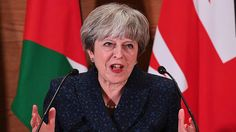 """- Theresa May took time on her trip to Jordan to directly call out US President Donald Trump over his retweeting of racist Britain First tweets. - The PM said he had made it """"very clear that re-tweeting from Britain First was the wrong thing to do""""."""