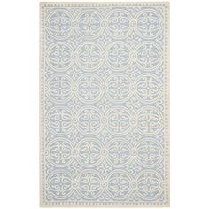 Safavieh Handmade Moroccan Cambridge Light Blue Wool Rug - Overstock™ Shopping - Great Deals on Safavieh 7x9 - 10x14 Rugs