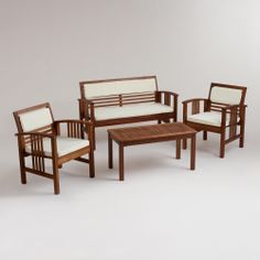 4-Piece Belize Occasional Furniture Set | World Market $199... perfect