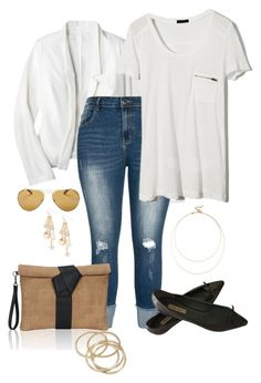 """Plain white tee- plus size"" by gchamama ❤ liked on Polyvore featuring Mossimo, Marc Jacobs, Sole Society, Kensie, ABS by Allen Schwartz and Sicky"