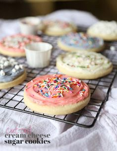 Cream Cheese Cut-Out Sugar Cookies, these have so much flavor and the cream cheese helps keep them soft!