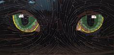 Cat eyes by Lou Ann Weeks, mosaic artist. www.i-c-mosaics.com
