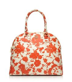 Printed Robinson Dome Satchel | Womens Top Handles & Shoulder Bags.  Tory Burch.