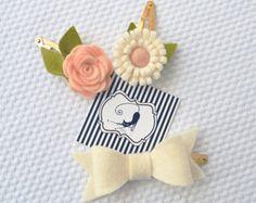 Headband with anemone felt flowers in light by CraftyCatgr on Etsy