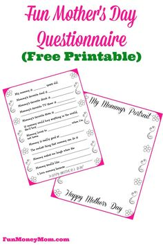 Best Mother's Day card your kids will ever give you..be prepared to laugh! (free printable)