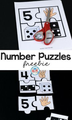 Number Puzzles Math Freebie Number Puzzles Math Freebie Lavender Fields Schule Your students are sure to LOVE these number puzzles Perfect for learning nbsp hellip Numbers Kindergarten, Numbers Preschool, Learning Numbers, Preschool Curriculum, Math Classroom, Kindergarten Activities, Math Numbers, Teaching Math, Preschool Activities