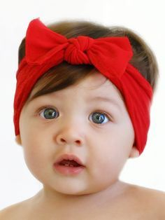 Shop soft & stretchy baby headbands at SugarBabies! Our selection includes pretty Baby Bling styles like the Bow Knot Headband in Cherry Red. Baby Bling, Bling Bling, Baby Girl Bows, Baby Girl Hair, Camo Baby, Baby Girls, Sewing Headbands, Diy Baby Headbands, Knot Headband
