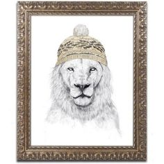Trademark Fine Art Winter Is Coming Canvas Art by Balazs Solti, Gold Ornate Frame, Size: 16 x 20
