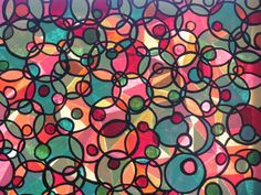 Fun Faux Stained Glass ........Oil and Acrylic MIx ,,,,,,(MML)