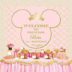 Minnie Mouse real color de rosa y oro por STYLEMEMIAMIADESIGN