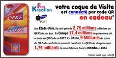 COQUE de VISITE connecté par code QR pour Smartphone/Tablette #IPHONE, #SAMSUNG, à prix mini. http://fun-kreation.com