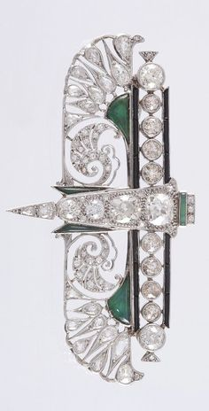 Art Deco brooch,ca 1930