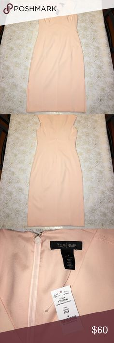NWT White House Black Market Pale Pink Dress Size4 NWT White House Black Market Pale Pink Dress Size4. Features side slit on each side. White House Black Market Dresses