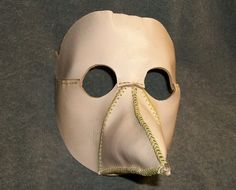 Plague Doctor Mask Leather Blank DIY Unique. $45.95, via Etsy.