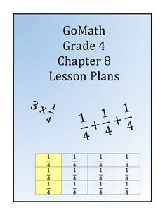 This bundle includes 5 lessons for chapter 8 of Go Math for 4th grade. Lessons Include: -The problem of the day -Engage -Teach and talk -Guided practice  -Assessment (Quick Check) -Independent Practice  -Differentiated Groups: Language Support for ELLs, Enrich, Tier 1 and Tier 2.  -Essential Questions -Summarize  **Includes a checklist to keep track of the students progress during the Quick Check Assessment. ...