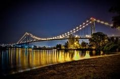 Ambassador Bridge at night  Detroit z - I see this on my way back from babysitting :)