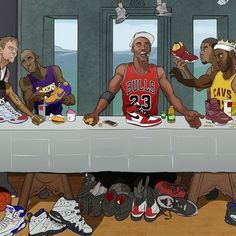 NBA Superstar Last Supper Illustration Bryant Bryant Black Mamba Bryant Cartoon Bryant nba Bryant Quotes Bryant Shoes Bryant Wallpapers Bryant Wife Street Basketball, Basketball Art, Basketball Pictures, Basketball Players, Basketball Legends, Nba Pictures, Ar Jordan, Jordan Nike, Superstar