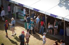 Stalls at the Ergon Energy Flower Food and Wine Festival 2012.