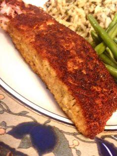 "Blackened Seasoned Salmon! ""This blackened seasoning also tastes great on chicken, scallops and shrimp!""  @allthecooks #recipe"