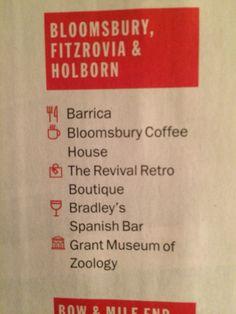 Top picks: Fitzrovia & Holborn