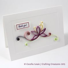 Crafting Creatures: Quilled Thank You Cards (3 of 8)
