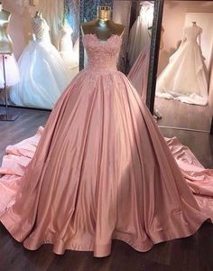 2017 formal dusty rose A-line sweetheart long prom #weddingdress#fashion#promdress#eveningdress#promgowns#cocktaildress