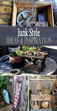 Junk Style – Flea Market Decor Lots of junk style decorating tutorials! Learn … Junk Style – Flea Market Decor Lots of junk style decorating tutorials! Learn to make your own flea market decor for a rustic or vintage decorating theme! Funky Junk Interiors, Flea Market Decorating, Decorating On A Budget, Use What You Have Decorating, Thrift Store Crafts, Thrift Stores, Flea Market Crafts, Thrift Store Finds, Flea Market Gardening