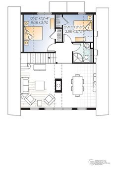 Mezzanine Plans 3 bedroom a-frame cabin with mezzanine and open floor plan layout