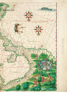 Central America and the Antilles. The map of the Caribbean Sea and Gulf of Mexico regions is exceptional for its accuracy at thi...