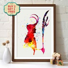 Marvel Film Poster - Avengers - Loki _ Aquarell Malerei Wand Kunst Wall Decor Art Home Decor Wall Decor  ♥ Jeder Druck verwendet archival