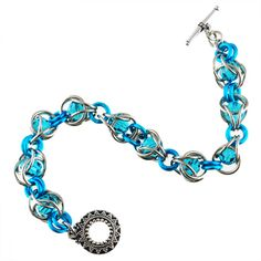Elegant Hourglass Bracelet Chainmaille DIY Jewelry Tutorial Kit | by Aimee Leang for Blue Buddha Boutique