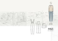 Marks and Spencer illustrations by Hannah Brook