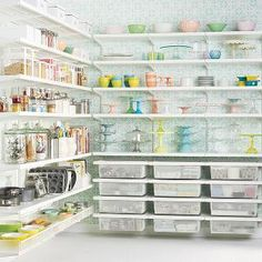 White elfa décor Baker's Pantry | The Container Store
