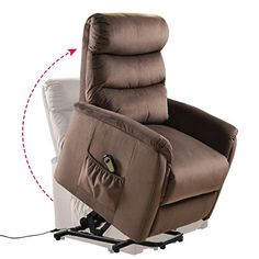 Giantex Recliner Power Lift Chair Easy Comfort Recliner Living Room Furniture with Remote - Does just what it is supposed to do and made well!This Giantex that Living Room Chairs, Living Room Furniture, Furniture Chairs, Chocolate Living Rooms, Lift Recliners, Diy Home Accessories, Sofa Chair, Recliner Chairs, Reclining Sofa