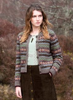 Lambswool Fair Isle Cardigan