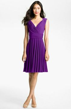 Ivy & Blu Pleated Jersey Fit & Flare Dress available at #Nordstrom          this comes in several colors