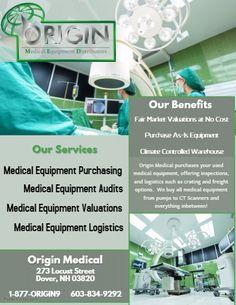 Used Equipment, Medical Equipment, Marketing, The Originals
